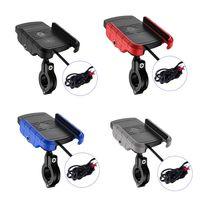 Wasserdicht 12V Motorrad Telefon Qi Schnelle Lade Drahtlose Ladegerät Halterung Halter Halterung Ständer für iPhone Xs MAX XR X 8 Samsung Hu|Handy-Halter & Ständer|Handys & Telekommunikation -