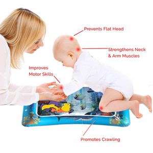 Image 5 - Bebek şişme su dolu yastık çocuk halı oyuncaklar çocuklar için bebek oyun paspaslar oyuncak su eğlence yaz hediye için