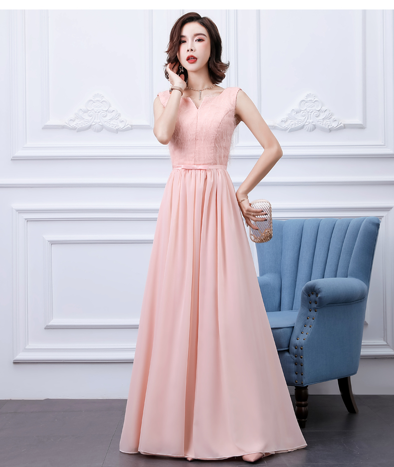 Pink Bridesmaid Dresses Long Chiffon Vestido Largo Sirena Elegant Dress Women For Wedding Party Red Black Sexy Sister Prom Dress