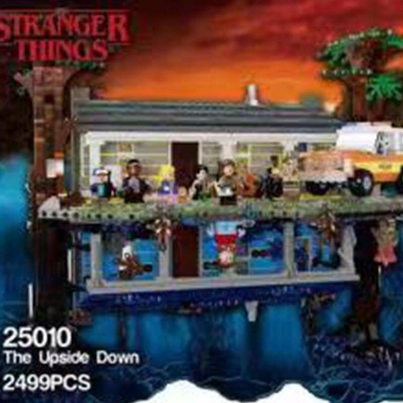 2019 new 2499pcs legoinglys Stranger Things the upside down Building Blocks Bricks Set Children Toys gift 25010 75810 1