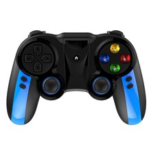 C16 Bluetooth Wireless Gamepad Game Controller Joystick for Android IOS Mobile Phones PC Game Handle Remote Gamepad-Blue Black(China)
