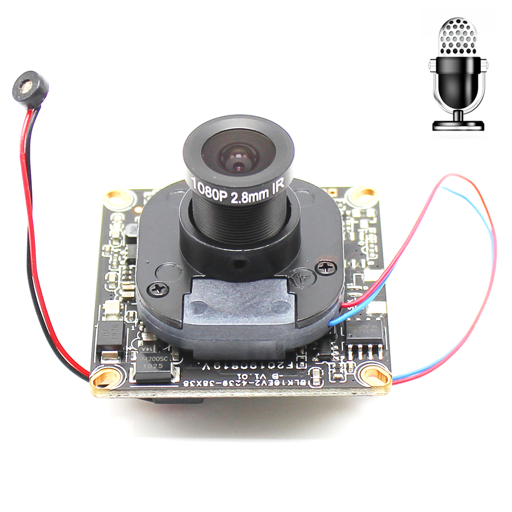 H.265 HD IP Camera Module Board With Microphone Audio Lens 2.8-12mm 1080P 1920*1080 Network ONVIF CMS XMEYE P2P