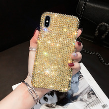 Luxury Crystal Full Diamond Case For iPhone 12 11 Pro XS Max XR X 8 7 6 Plus Cover For Samsung S21 S20 S10 S9 Plus Note 20 10 9