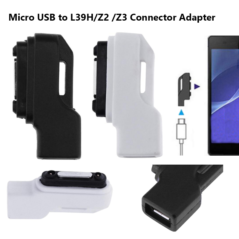 New Arrival Micro USB to L39H/Z2 /Z3 Magnetic Charger Connector Adapter for Sony Xperia Z3 Z2 Z1 Mobile Phone image