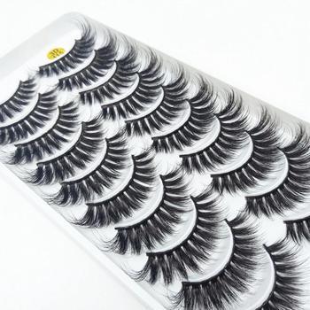 NEW5/10Pairs 3D Faux Mink Eyelashes Natural Thick Long False Eyelashes Dramatic False Lashes Makeup Extension Eyelash maquiagem 1