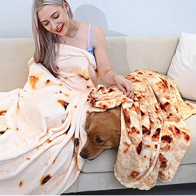 120cm 150cm 180cm Flannel Burrito Blanket Cover For Personalized Use 5