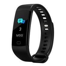 Y5 smartband bluetooth pulseira inteligente tela colorida monitor de freqüência cardíaca medição pressão arterial fitness rastreador relógio inteligente
