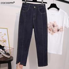 COCOEPPS XL-5XL Spring Women Plus size Seven Jeans Summer Ca