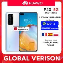 In lager Globale Version Huawei P40 5G Smartphone Kirin 990 8GB 128GB 50MP Kameras 6,1 zoll Android10 22,5 W Aufzurüsten NFC