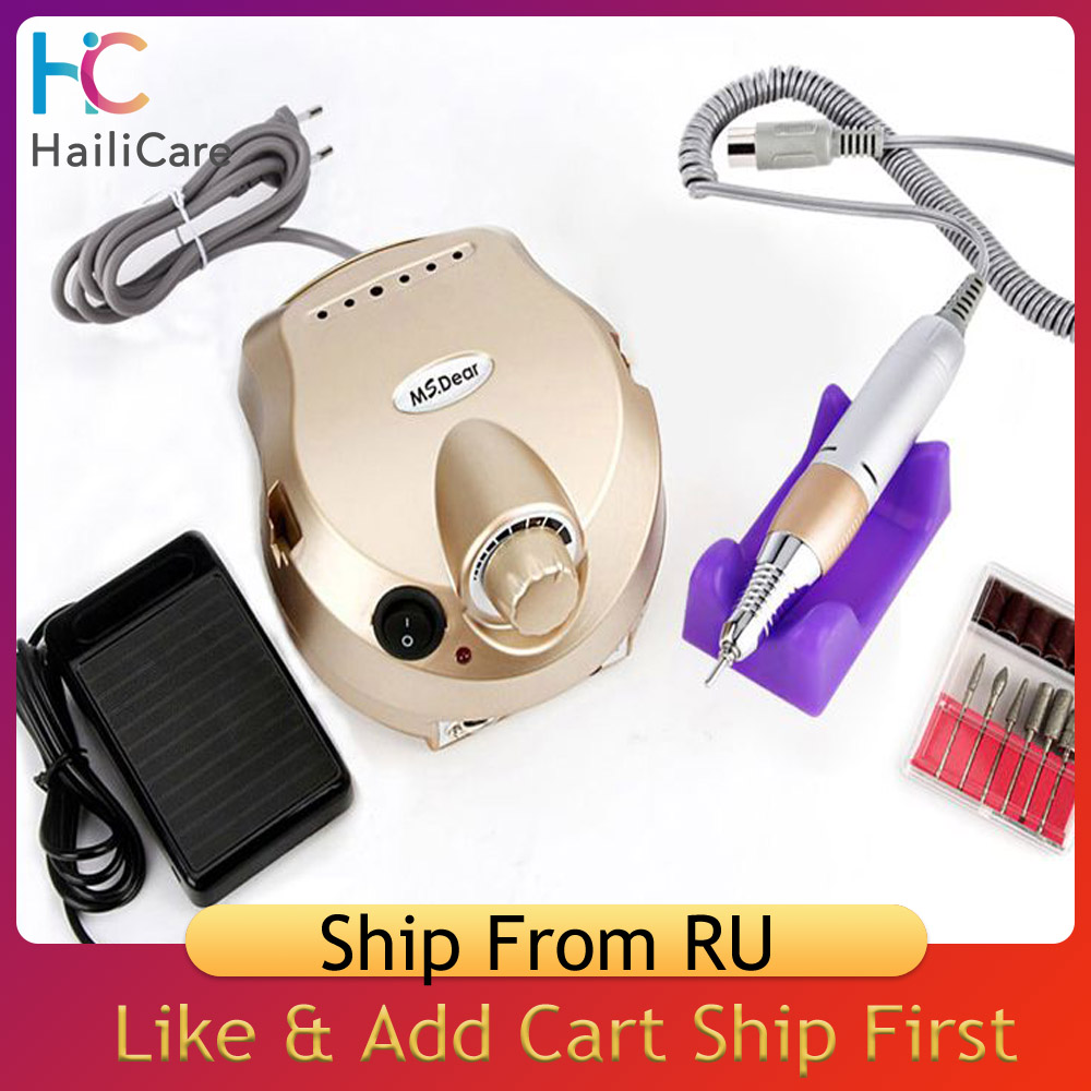 35000RPM 20000RPM Professional Nail Drill Manicure Machine Electric File Polisher Nails Art Apparatus Device With Drill Bits