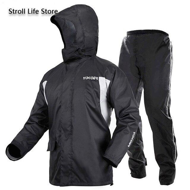 Motorcycle Rain Jacket Raincoat Men Rain Pants Set Waterproof Suit for Fishing Rain Coat Mens Sports Suits Capa De Chuva Gift