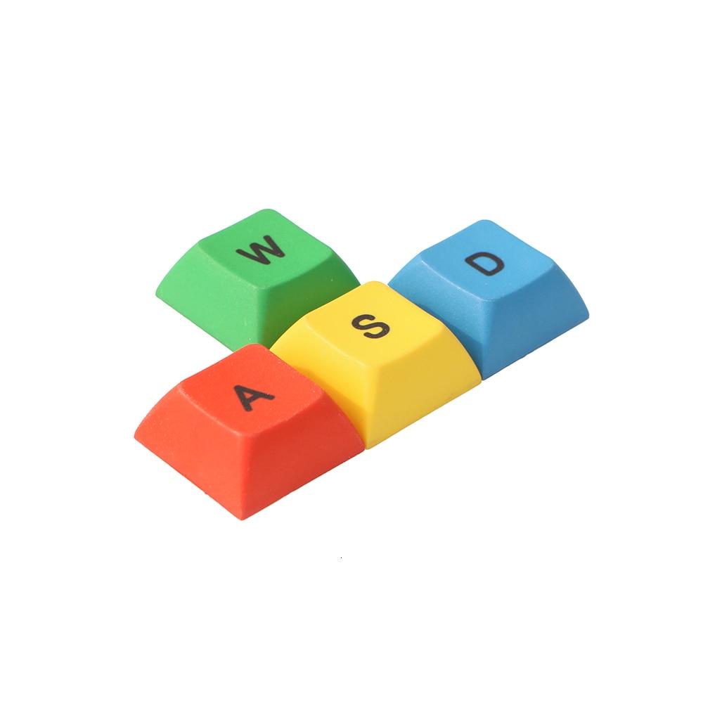 DSA Profile PBT RGBY ESC WASD Direction Arrow Key Cap Mechanical Keyboard Dye Sublimation Keycaps