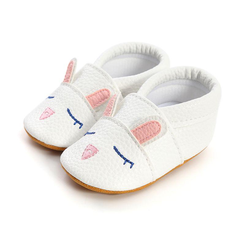 Dessin animé bébé chaussures doux en cuir véritable bébé garçons filles infantile chaussures premiers marcheurs 1