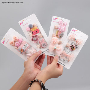 Hair Accessories Hair Clips for Girls for Kids Princess Headwear Girls Birthday Holiday Gift Cute Animal Flower Pink Hair Clip(China)