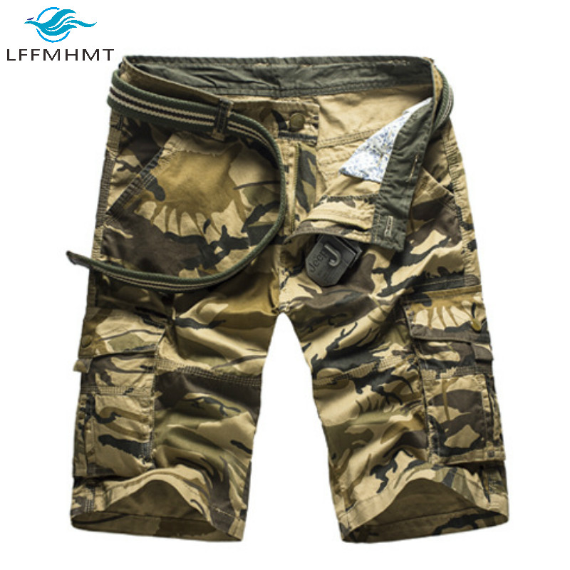 Men Summer Fashion American Style Military Style Camouflage Cargo Shorts Male High Quality Casual Loose Multiple Pockets Shorts