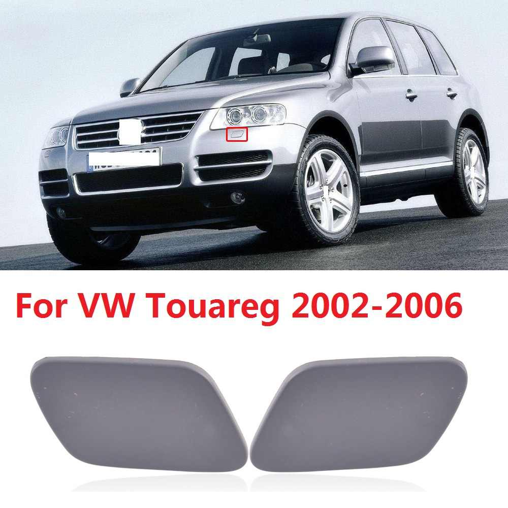 RH Front bumper Headlight Washer Cover Nozzle Jet Cap For 2002-2006 VW Touareg