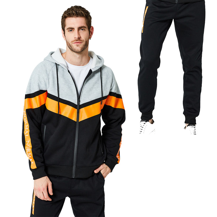 Men Sportswear Sweatshirt/Sweatpants Gym Fitness Training Hoodies and Pants 2pcs outdoor Tracksuit Coats