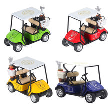 NEW 1:20 Scale Mini Alloy Pull Back Golf Cart w/ Clubs Diecast Model Vehicle Boys Vehicles Car Toys Children's Vehicle Model Toy(China)