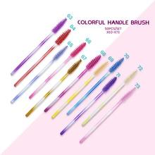 50pc Disposable Mascara Wands Colorful Silicone Mascara Wands Lash brushes Applicator Lashes Brush E
