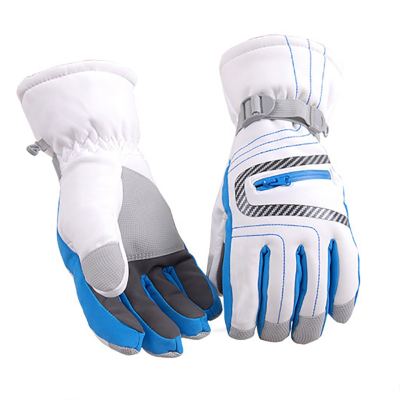Ski Gloves Winter Outdoor Riding Skiing Children Adult Windproof Waterproof Non-slip Cold Nylon Warm Full Finger Gloves
