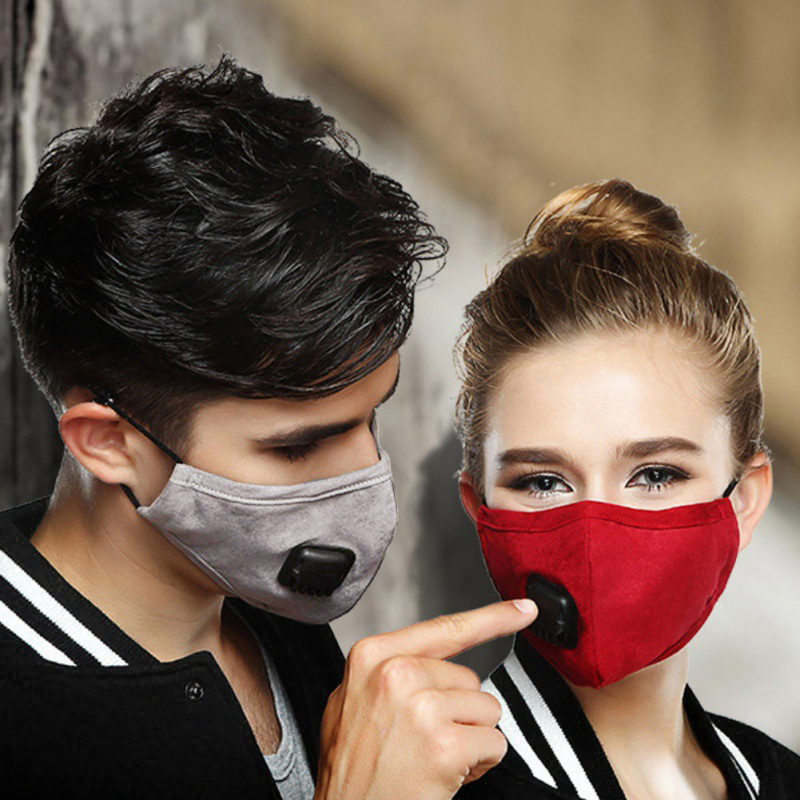 Reusable Cotton Mouth Face Masks Breathable Cover Respirator Anti-Dust + PM2.5 Mask Filter Unisex Fast Drop Shipping Hot Sell