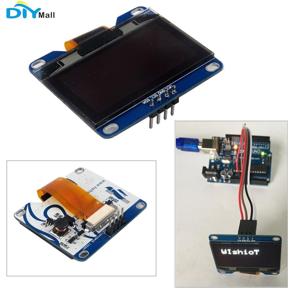 1.54 polegada Display OLED CII 128X64 12864 SSD1305 SSD1309 Branco para Arduino 3.3-5V