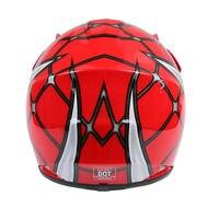 DOT Youth Kids Helmet Pink Butterfly Red Spider Net Dirt Bike ATV MX Helmets full face w/Goggles+gloves Cycling casco moto kask 6