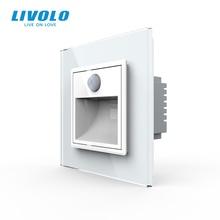 Livolo New Arrival Standard ue ganek korytarz lampa narożna, włącznik świateł, sterowanie dotykowe, inteligentne światło czujnika, w ciemności