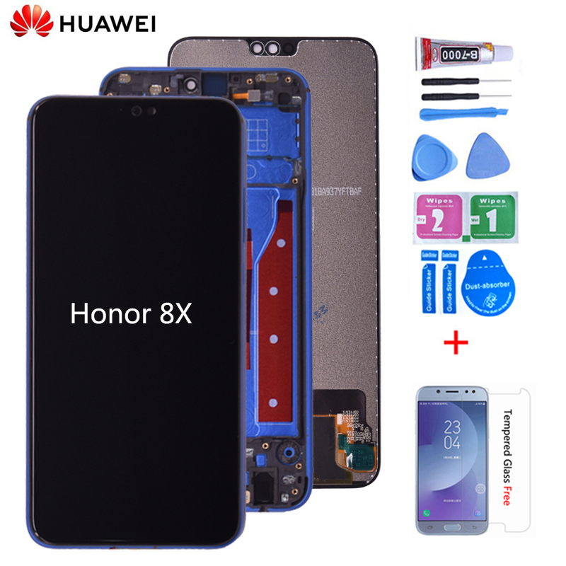 Original For Huawei <font><b>Honor</b></font> <font><b>8X</b></font> JSN-AL00 JSN-L22 JSN-L21 Full <font><b>LCD</b></font> DIsplay + Touch Screen Digitizer Assembly Replacement image