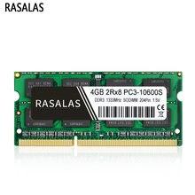 Rasalas 8GB 4GB DDR3 1333Mhz 1600Mhz PC3-10600S SO-DIMM 1.35V 1,5 V Notebook RAM 204Pin Laptop geheugen sodimm
