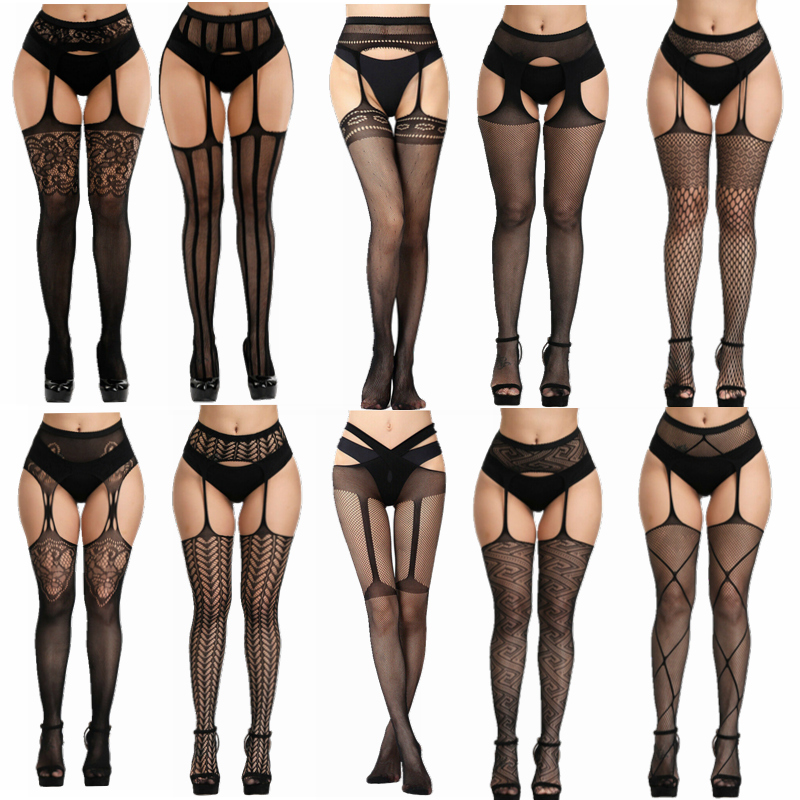 Sexy Mesh Fishnet Pantyhose Women Bling Tights Slim Pantyhose In A Grid Stockings Plus Size Party Club Hosiery