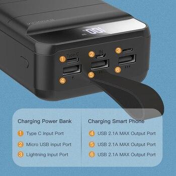 Внешний аккумулятор KUULAA Power Bank 40000 мАч 4