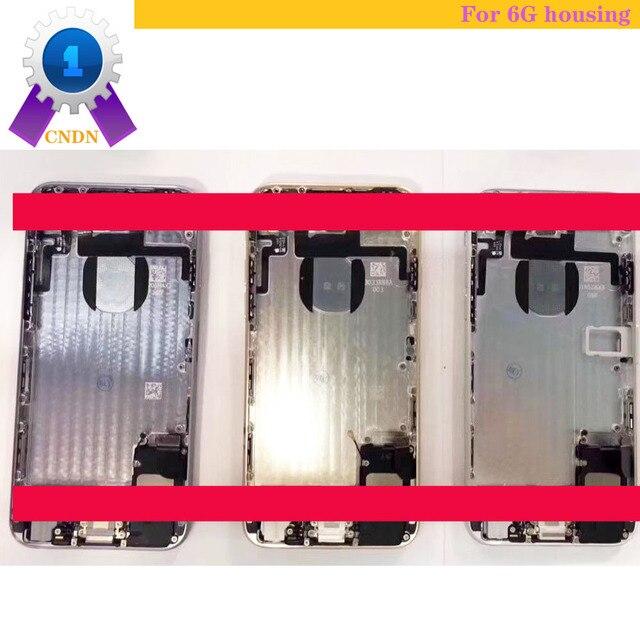 Para iphon 6g 4.7 polegada, boa qualidade vazia capa traseira, ou com acessórios completos habitação, incluindo câmera traseira, bateria, sino etc peças