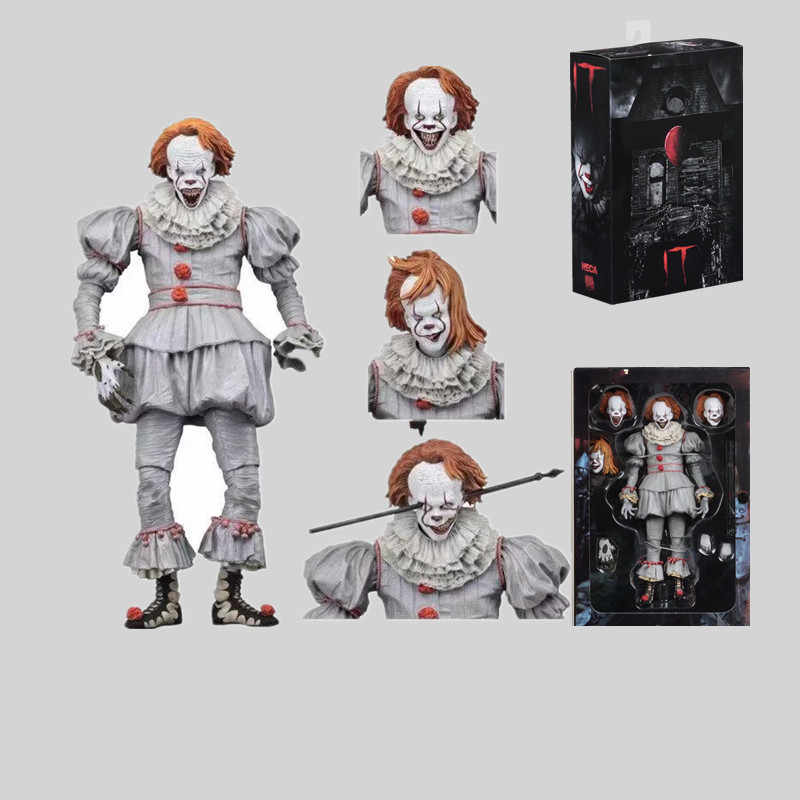 18 Cm Neca Stephen King 2017 Pennywise (Baik House) PVC Action Figure Collectible Model Mainan
