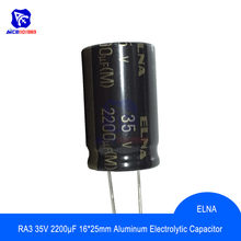 Diymore – condensateur Audio ELNA RA3, 35V, 2200 °f, 16x25mm, 5 pièces/lot, condensateur électrolytique en aluminium, Original