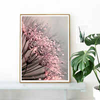 Dandelion Dew Posters Prints Flowers Poster Plant Wall Art Canvas Painting Modern Wall Pictures For Living Room Home Décor