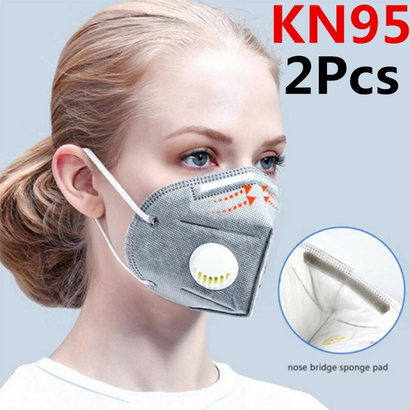 Reusable Respirator 6 Layers Filter FFP2 FFP3 KN95 Mask Valved Face Mask Protection Face Mask Mouth Cover Pm2.5 Dust Masks 2