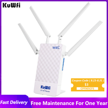 KuWFi 4g Wifi Router 150Mbps Outdoor 2.4G GHz Wireless Router With Sim Card Slot 4pcs 5dBi Antennas For 48V POE Switch POE Camer