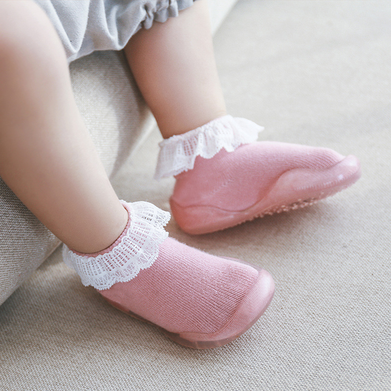 Infant Baby Girls Shoes Crib Prewalker Soft Sole Non-slip Slippers Sneakers Floor Socks Boot Breathable Waterproof First Walking