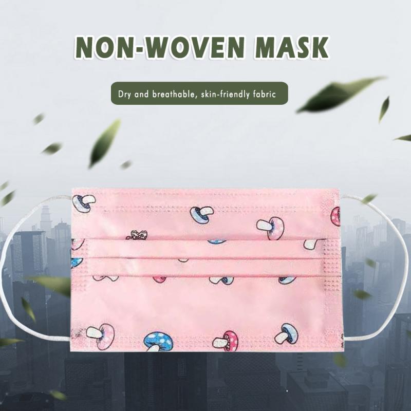 10/20/50PCS Disposable Children's Mouth Mask 3 Layers Melt-blown Breathable Mask Cute Kid Mask Children Masks Respirators Health
