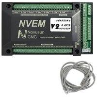 for NVUM 6 Axis Cnc Engraver Mach3 USB Card 300KHz 6 Axis CNC Drilling Machine Motion Control Card Breakout Board