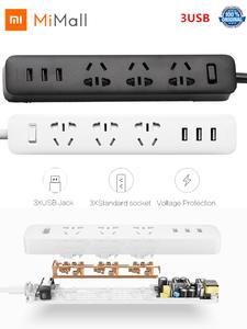 Xiaomi Power-Strip Travel-Plug-Adapter 3usb-Port Ua-Plug 3sockets AU 10A Mijia 5V 250V