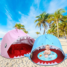 Children's Beach Tent Baby Waterproof Sun Awning Tent Uv-protecting Sunshelter With Pool Kid Outdoor Camping Sunshade Play Water