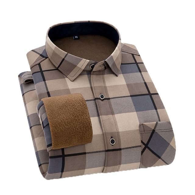 Men's  warm long-sleeved shirts