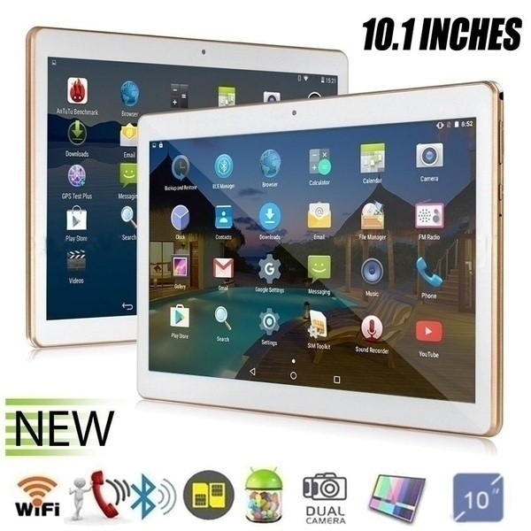 2020 10.1 Inch Tablet  6G+128G Android8.0 WiFi Tablet PC Dual SIM Dual Camera Rear 5.0MP IPS Bluetooth 4G WiFi Call Phone Tablet