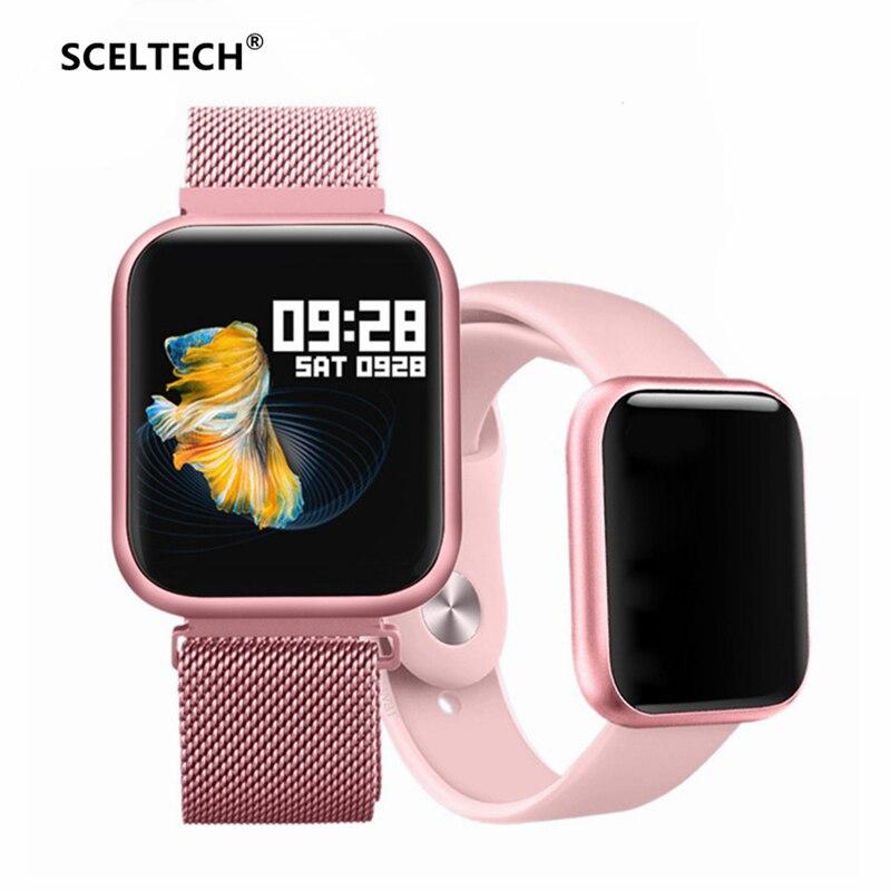P80 montre intelligente IP68 étanche plein écran tactile hommes femmes Smartwatch moniteur de fréquence cardiaque pour iPhone Xiaomi Huawei téléphone