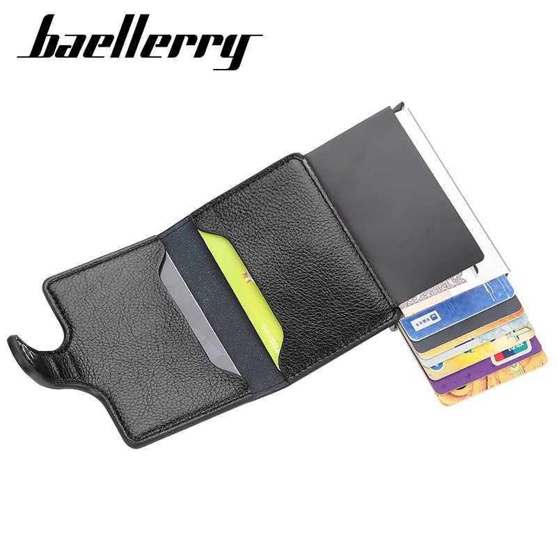 2019 antykradzieżowe portfele męskie jakości portfele na karty kredytowe portfel rfid PU skóra mężczyzna torebka informacje bezpieczeństwa torebka aluminiowa