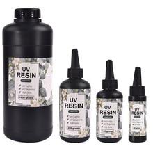 Résine UV transparente dure à séchage rapide, 60g/100g/200g/1000g, pour bricolage, résine époxy, fabrication de bijoux, artisanat