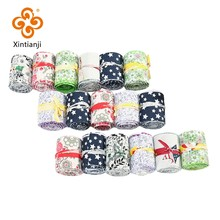 Cheap And Classic Printed Fabric DIY Handmade Sewing Material Fat Quilter Jelly Roll Cloth 7pcs 6.5*110cm/pcs T7866