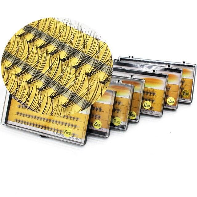 1 box 60 clusters 3d eyelashes 0.07 / 0.1mm thick natural false eyelashes C roll individual eyelashes, grafted eyelash extension 5